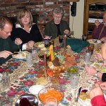Thanksgiving dinner with members of my family.