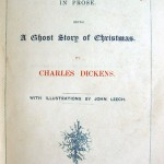 The first page of the original edition of A Christmas Carol.