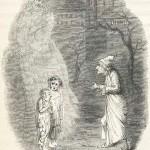 John Leech's drawing of Want and Ignorance in the first edition of A Christmas Carol.