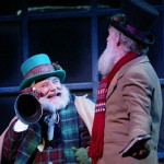 "The two ""portly gentlemen"" from a stage production of A Christmas Carol in Omaha, Nebraska"