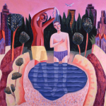 """The Baptism of Christ,"" by James Janknegt. http://uts.cc.utexas.edu/~janknegt/r0012.html"