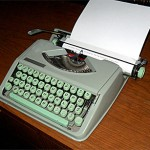 Here's how I used to do it. My first typewriter was a Hermes Rocket, like the one pictured above.