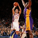 Jeremy Lin, shooting against the Lakers.