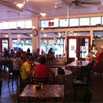 Live music in the Redbud Cafe, Blanco, Texas.