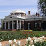 Monticello, the home of Thomas Jefferson, in the spring