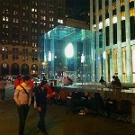 Eager iPhone 5 buyers camping out on Monday night, September 17, so they can buy their phone on Friday morning, September 21.