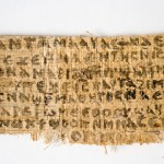 Fragment of the so-called Gospel of Jesus' Wife. Photo by Karen L. King.