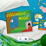 The homepage of the Goodnight Moon iPad app.