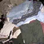Clothes I donated to the Goodwill one year.