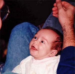 Kara smiling at her dad