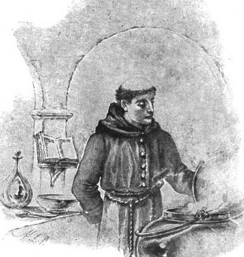 An artist's representation of Brother Lawrence in the kitchen. From the public domain. https://commons.wikimedia.org/wiki/File:Brother_Lawrence_in_the_kitchen.jpg