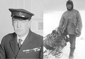 Explorers Ernest Shackleton and Robert Falcon Scott