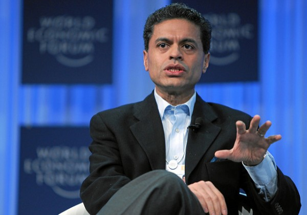 DAVOS/SWITZERLAND, 27JAN11 - Fareed Zakaria, Anchor, Fareed Zakaria - GPS, CNN, USA asks questions during the session 'The Next Shock: Are We Better Prepared?' at the Annual Meeting 2011 of the World Economic Forum in Davos, Switzerland, January 27, 2011. Copyright by World Economic Forum swiss-image.ch/Photo by Sebastian Derungs