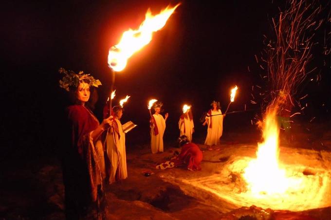 Sorita d'Este as a guest at an Autumn Equinox celebration with Threskeia,Threskeia, Bulgaria, 2015