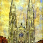 Artistic rendering of the proposed cathedral, 1959.