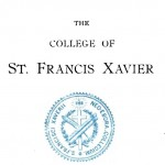 St. Francis Xavier College Entrance Requirements, 1899