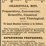 Catholic Higher Education: St. John's University, Collegeville, Minnesota (1856)