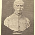 A bust of Father John Hand (1807-1846), founder of All Hallows
