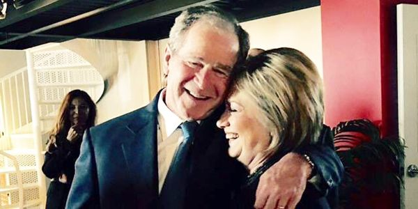 Hillary Clinton and George W. Bush at Nancy Reagan's Funeral, Wenner Media