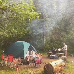 My family camping