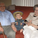 Pawpaw and Memaw with August at his first birthday