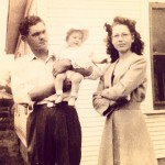 Pawpaw and Memaw, with my aunt Rita in 1947