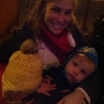 A fuzzy little pic of the boys and me on the trolley. It was bedtime...