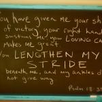 lengthen my stride