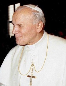 """""""John Paul II 1980 cropped"""" by Fels_Papst.JPG: Nikolaus von Nathusiusderivative work: JJ Georges - This file was derived from:Fels Papst.JPG:. Licensed under Public Domain via Wikimedia Commons."""