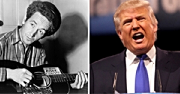 Fred Trump left his racist legacy for his son Donald Trump. Woody Guthrie called him on it.