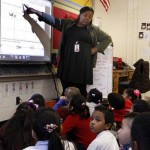 Memphis Teacher Residency intern Starr Garrett teaching at Kingsbury Elementary, a Memphis public school. MTR participants live and work together in a yearlong internship, then commit to teach in Memphis' underserved schools. Photo by Karen Pulfer Focht
