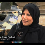 Screen shot of an interview with Dr. Iman Farhad, via Voice of America