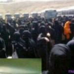 Saudi women protestors. Image via mubasheer.com.