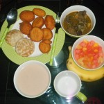 Iftar in a Nigerian home.