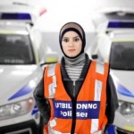 Donna El Jammal, the first policewoman who wears hijab, now lives in Södertälje. Source: Pitea Tidningen