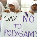 Malaysian Muslim women protest against polygamy.