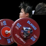 Zulfiya Chinshanlo, Olympic gold medalist in weightlifting. Image via the Toronto Star.