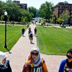 Three Muslim women who study at the University of Dayton.  Image via the New York Times.