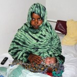 An image from the film, of a mother and her baby at the Edna Adan Maternity Hospital. Via PBS.