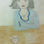 A picture drawn by one of the girls that Nelly Ali works with, and posted on Nelly's blog.