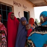Somali women at a health clinic.  Via Through the Fire.
