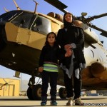 Col. Latifa Nabizada, the first female pilot in Afghanistan's air force, was recently profiled by the BBC.  Her five-year-old daughter Malalai has grown up flying with her, and hopes to be a pilot too when she grows up.