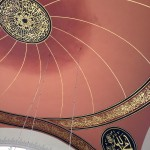 The ceiling of the Şakirin Mosque in Istanbul, the interior of which was designed by a woman.