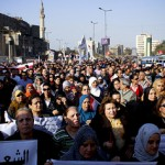 Women march to Tahrir on January 25, 2013. Credit Gigi Ibrahim