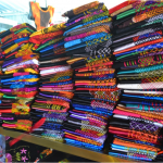 Traditional clothes shopping at the Juchitán Market.