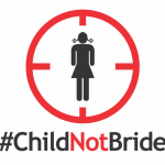 An image from the #ChildNotBride campaign. Via The Stream.