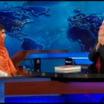 Malala Yousafzai being interviewed by Jon Stewart.  Via News Asylum.