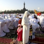 Muslim women in Indonesia at Eid-ul-Adha prayers last year. AP Photo, via the Huffington Post.