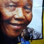 My daughter outside Mandela's home in Soweto on Saturday night.
