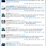 Screenshot of some of the #MuslimMaleAllies tweets.